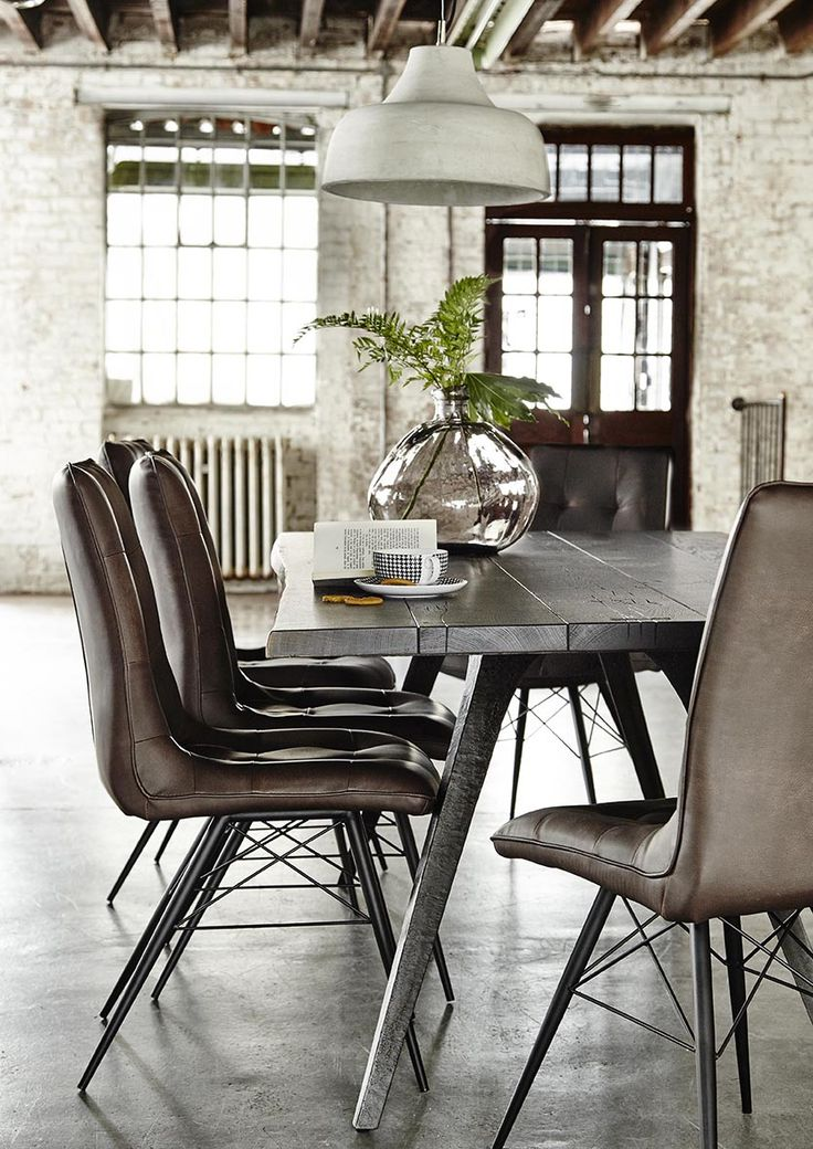 Best Leather Upholstery For Dining Room Chairs Best 25 Leather Dining Chairs Ideas On Pinterest Dining Chairs