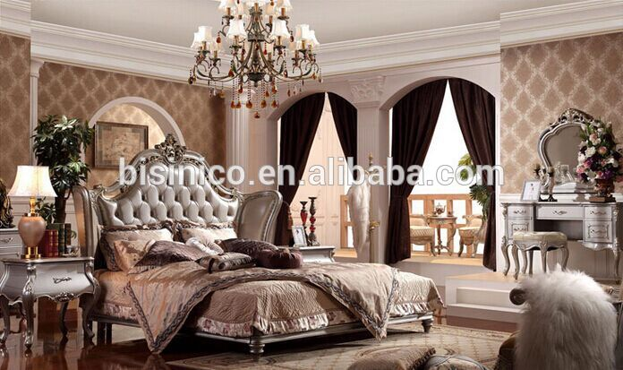 Best Luxury King Size Mattress European Style Wood Carved Bedelegant And Royal King Size Bed