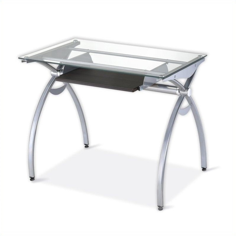 Best Metal Computer Desk Glass Top Metal Computer Desk Rta 00397b Gls