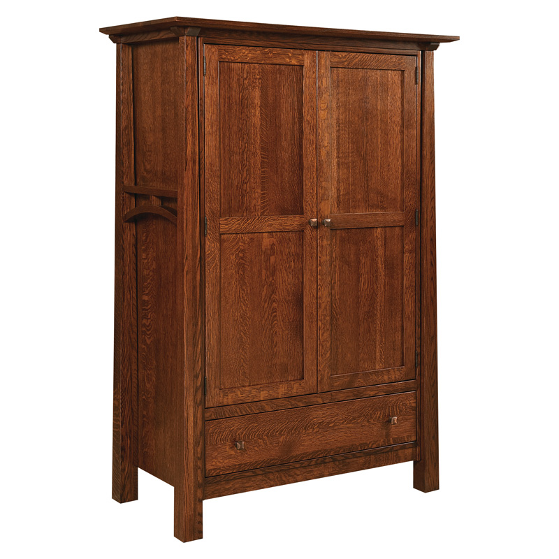 Best Mission Style Armoire Wardrobe Amish Armoires Amish Furniture Shipshewana Furniture Co