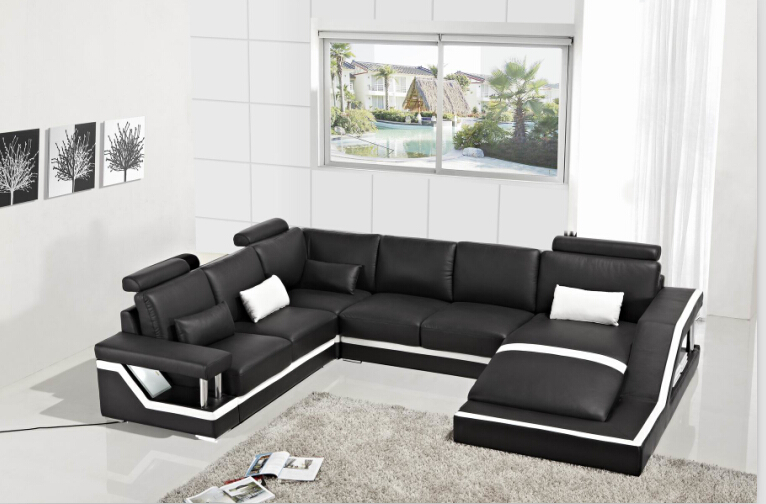 Best Modern Fabric Sofa Designs Leather Corner Sofas With Genuine Leather Sectional Sofa Modern