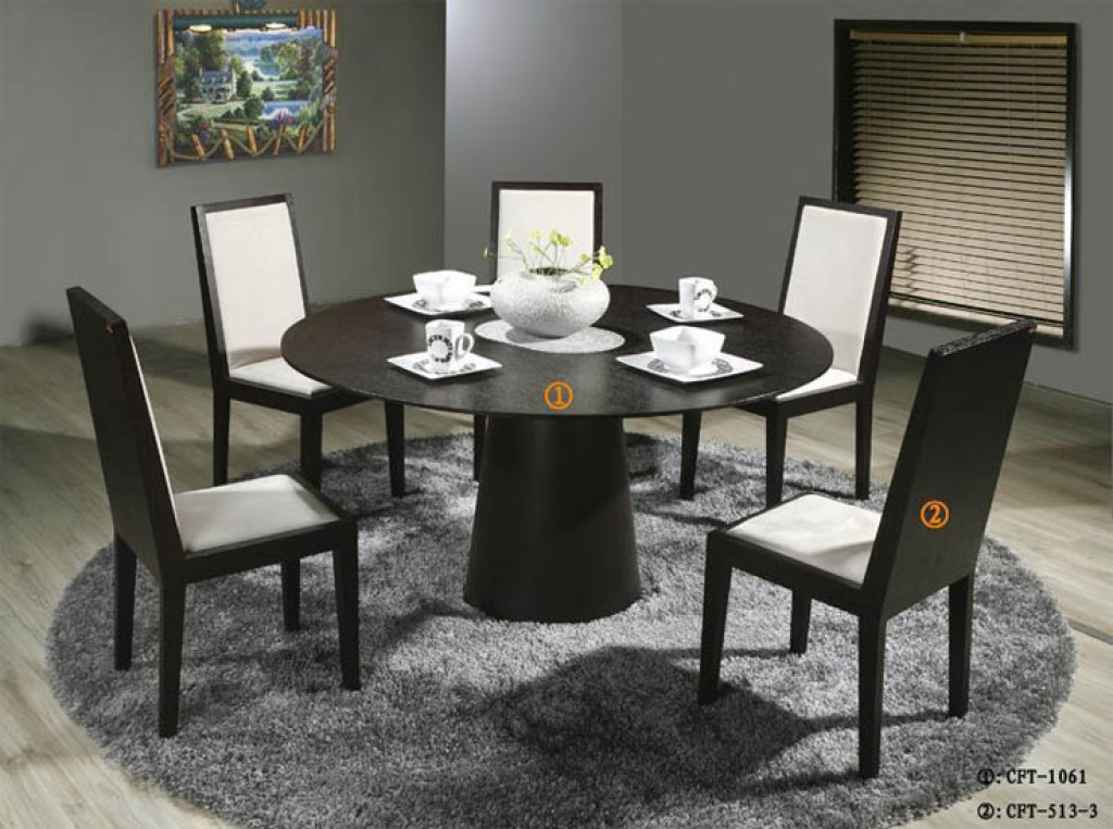 Best Modern Round Dining Table For 6 Modern Round Dining Table For 6 Regarding Modern Round Dining