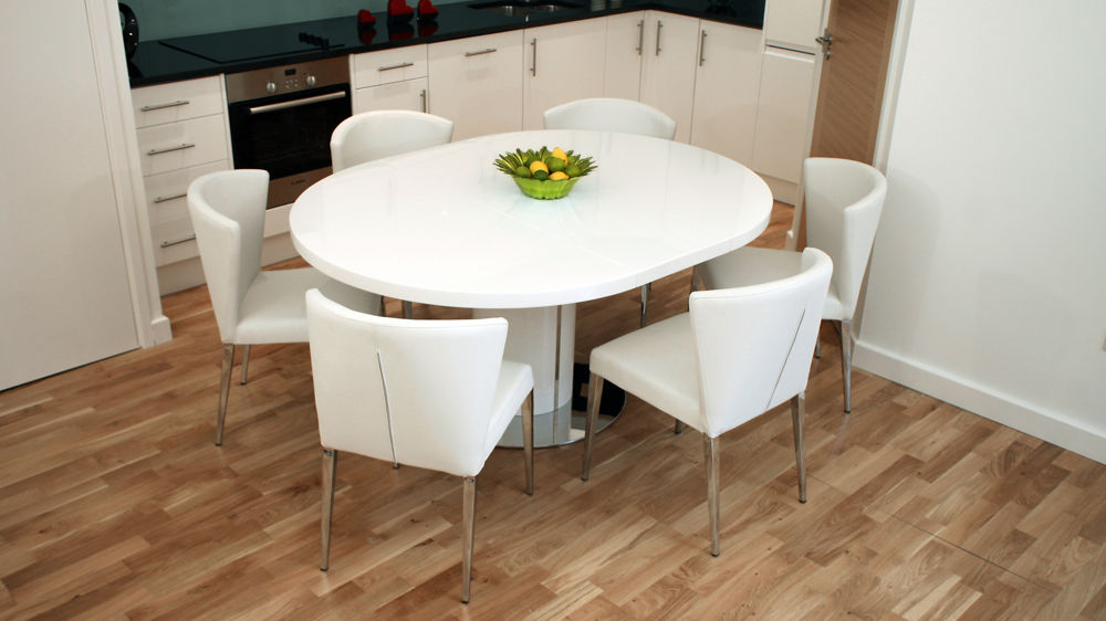 Best Modern Round White Dining Table Extending Dining Room Sets Delectable Ideas Captivating Extending