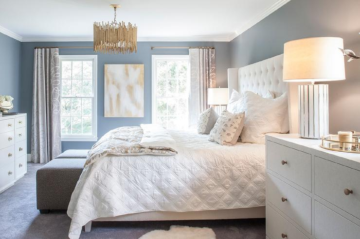 Best Nightstands For Tall Beds White And Blue Bedroom With White Tall Dresser As Nightstand