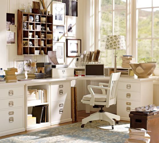 Best Office Desk And Cabinets Build Your Own Bedford Modular Cabinets Pottery Barn