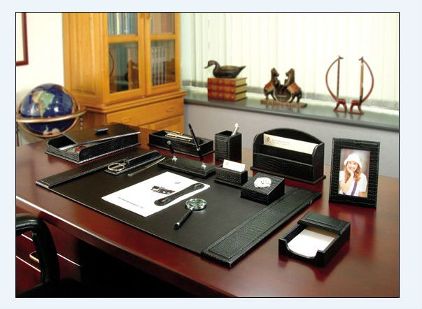 Best Office Desk Set 2016 New Fashioned Excutive Pu Leather Stationery Set Office Buy