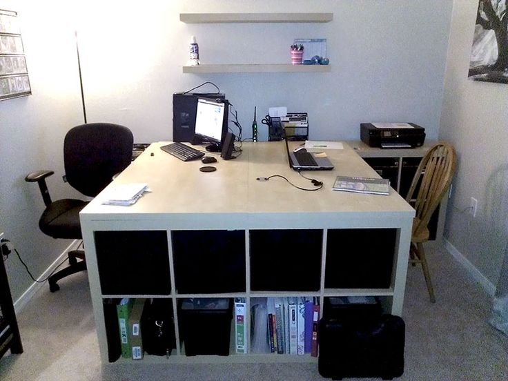Best Office Desk With Lots Of Storage Best 25 Two Person Desk Ideas On Pinterest 2 Person Desk Home