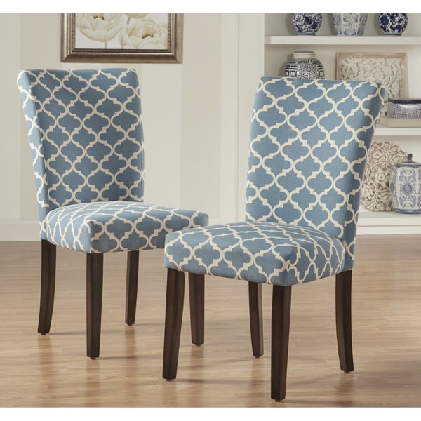 Best Parsons Dining Chairs Catherine Moroccan Pattern Fabric Parsons Dining Chair Set Of 2
