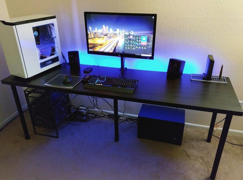 Best Pc Desk Setup Gaming Computer Desk Setup Interior Design