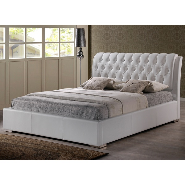 Best Platform Bed With Upholstered Headboard Baxton Studio Bianca Modern And Contemporary Faux Leather