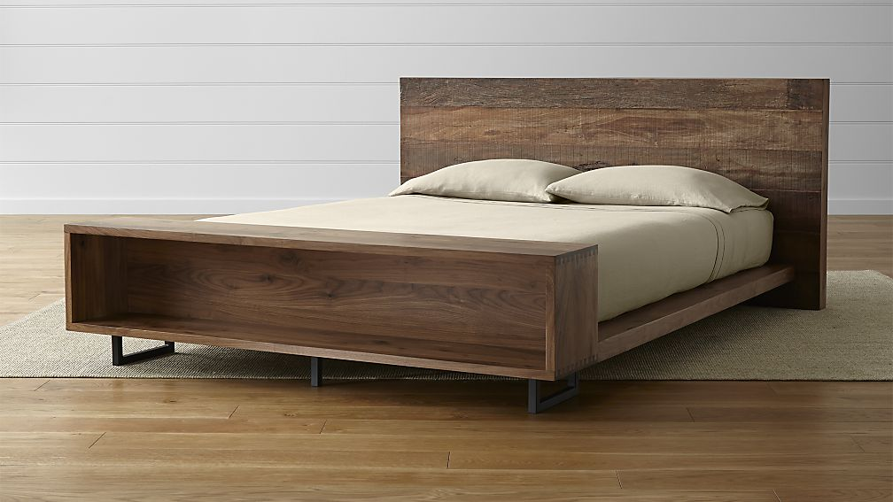 Best Queen Bed And Frame Atwood Queen Bed With Bookcase Crate And Barrel
