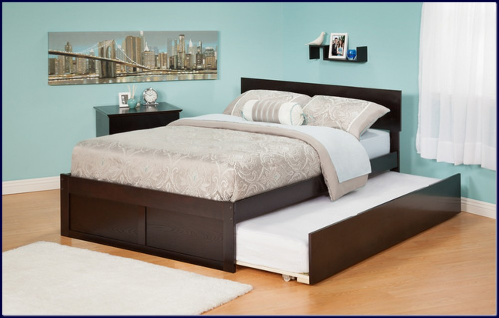 Best Queen Bed With Bed Underneath Bedding Pretty Queen Trundle Bed Crafty Inspiration Size