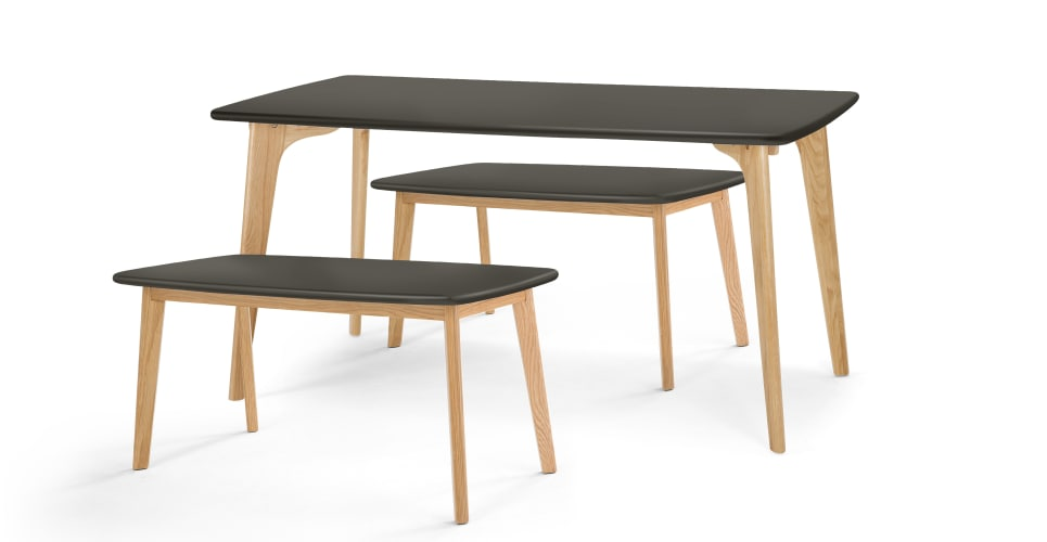 Best Rectangle Dining Table Fjord Rectangle Dining Table And Bench Set Oak And Grey Made