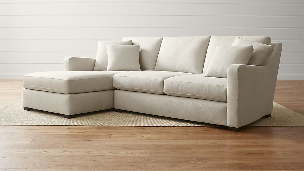 Best Sectional Couch With Chaise Verano Left Arm Beige Sectional With Chaise Crate And Barrel