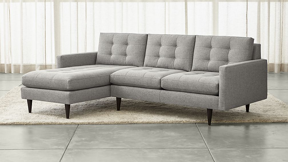 Best Sectional Sofa With 2 Chaises Petrie 2 Piece Left Arm Chaise Sectional Sofa Crate And Barrel