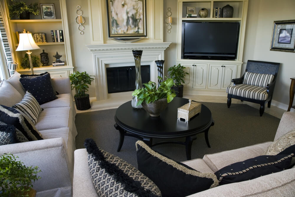Best Set Of Two Living Room Chairs 47 Beautifully Decorated Living Room Designs