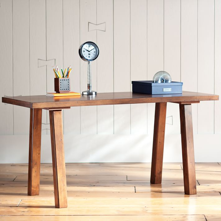 Best Simple Wood Desk Customize It Simple Desk Pbteen