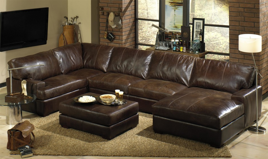 Best Small Leather Sectional Sofa With Chaise Sleek Dark Brown Small Sectional With Chaise Lounge In Eccentric
