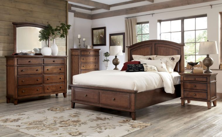 Best Tall King Size Bed Frame Bedroom Brwon Wooden Bed With Tall Headboard And Drawer Added