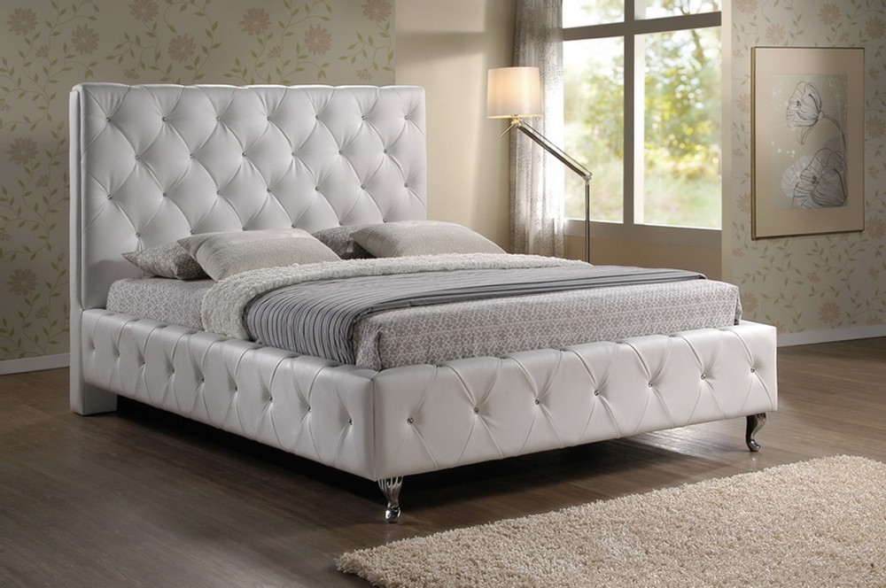 Best Tufted Headboard Bed Frame Tall Tufted Headboard With Pretty Details Med Art Home Design