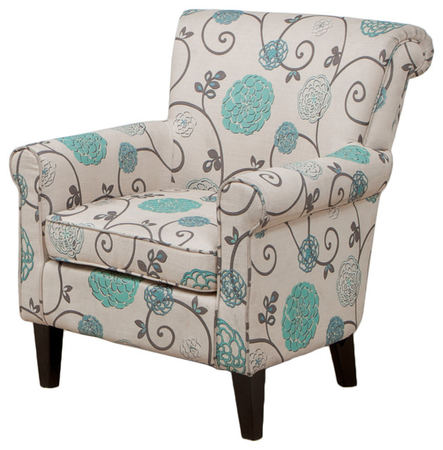Best Turquoise Blue Accent Chair Roseville Club Chair Contemporary Armchairs And Accent Chairs