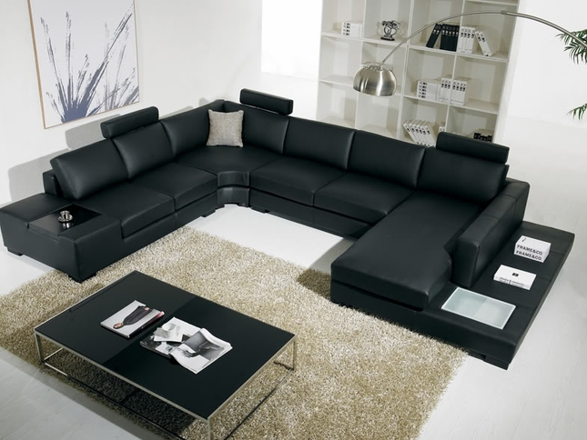 Best U Shaped Sectional Couch T 35 Large U Shaped Modern Leather Sectional Sofa With Lights