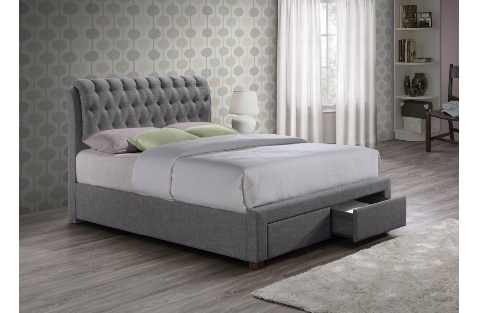 Best Upholstered Bed Frame With Drawers Calm Upholstered Bed With Drawers Upholstered Bed With Drawers