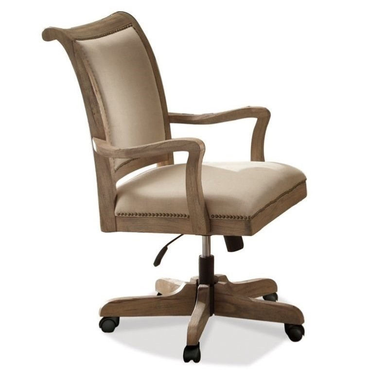 Best Upholstered Office Chair Riverside Furniture Coventry Desk Office Chair In Weathered
