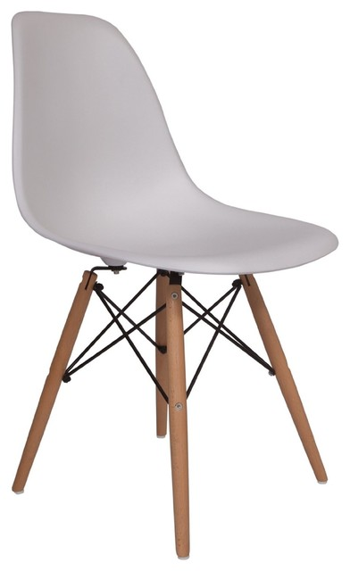 Best White And Wood Dining Chairs Molded Plastic Side Chair Wood Leg Base White Shell Lemoderno