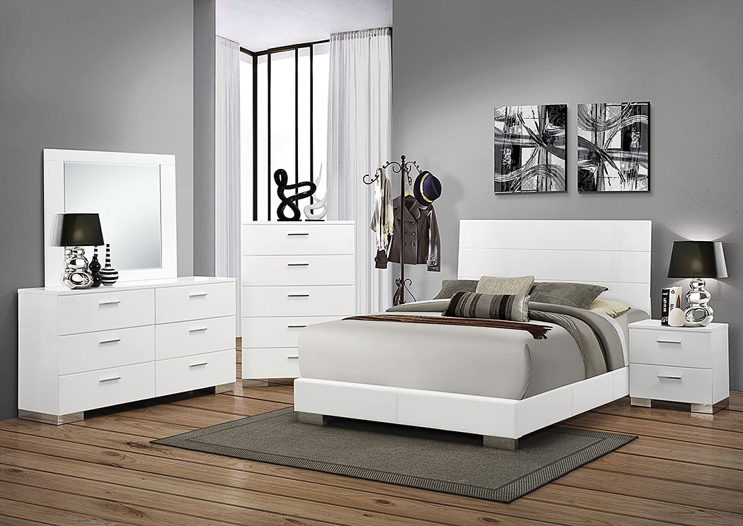 Best White California King Bed High Gloss White California King Bed Dresser Mirror Nightstand