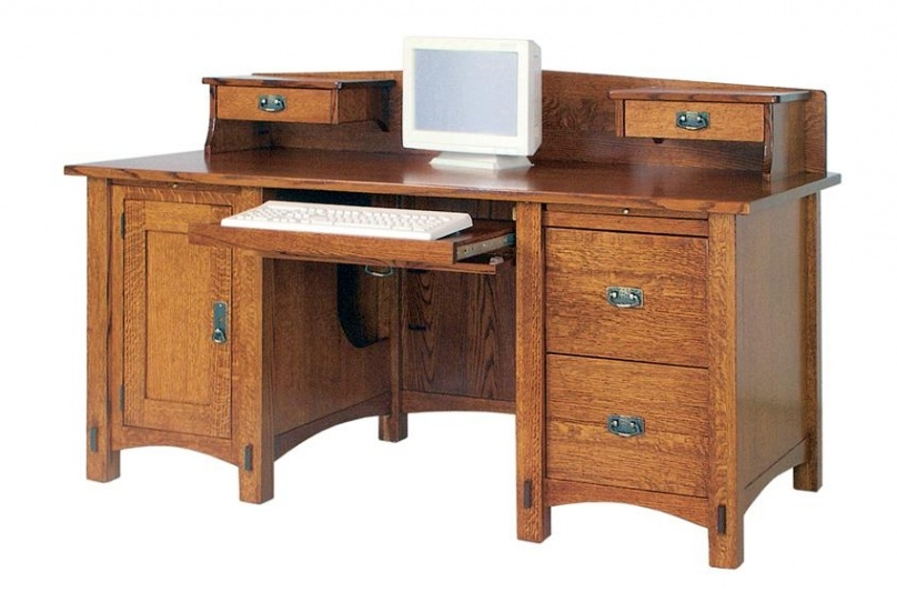 Best Wood Computer Desk Plans Creative Of Solid Wood Computer Desk Gorgeous Real With Regard To