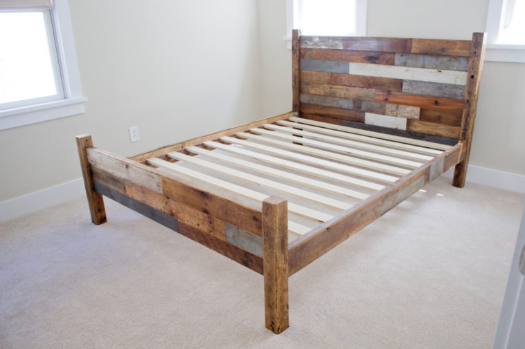 Best Wood Headboard And Footboard Furniture Pallet Wood Queen Bed Frame With Headboard And