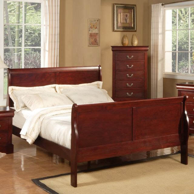 Best Wooden Bed Frame With Headboard And Footboard Queen Sleigh Bed Frame Headboard Footboard Cherry Vintage Wood
