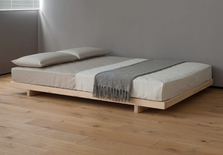 Best Wooden Bed Frame Without Headboard Furniture Un Varnish Wooden Bed Frame Using Grey And White