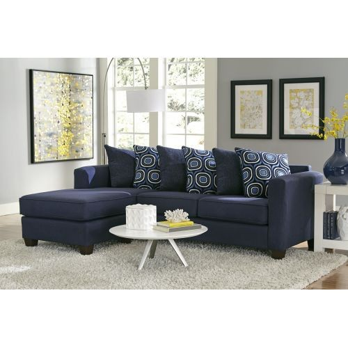 Brilliant 2 Piece Sectional Couch Lively Blue 2 Piece Sectional 7850 Sectional Couches National