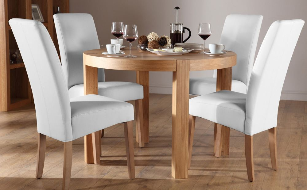 Brilliant 4 Dining Chairs Dining Room Top Set Of 4 White Chairs Winda 7 Furniture Throughout