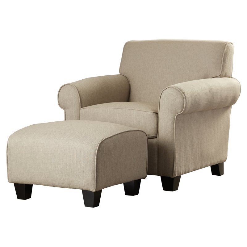 Brilliant Accent Chairs With Arms And Ottoman Chair Ottoman Sets Youll Love Wayfair
