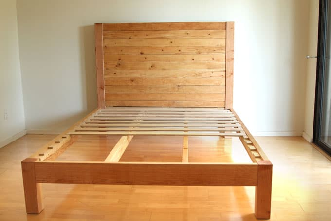 Brilliant Add Slats To Bed Frame Diy Bed Frame And Wood Headboard Page 2 Of 2 A Piece Of Rainbow