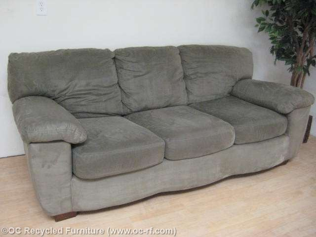 Brilliant Ashley Furniture Green Couch Green Ashley Microfiber Sofa Used Furniture Recycled Couches