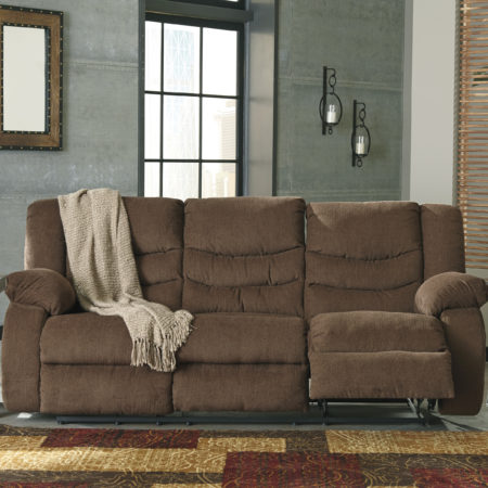 Brilliant Ashley Signature Reclining Sofa Ashley Tulen Chocolate Reclining Sofa And Love Seat Dream Rooms
