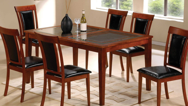 Brilliant Black Leather And Wood Dining Chairs Kitchen Glass Dining Table Black Leather Dining Chairs Grey Wool