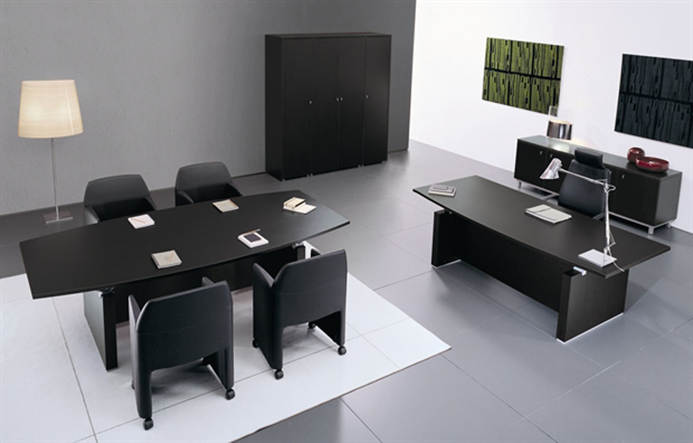 Brilliant Black Office Furniture Office Furniture Model 9 Office Furniture Black