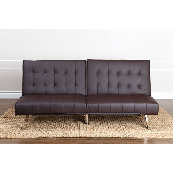 Brilliant Brown Futon Sofa Bed Abson Jackson Dark Brown Leather Foldable Futon Sofa Bed Free
