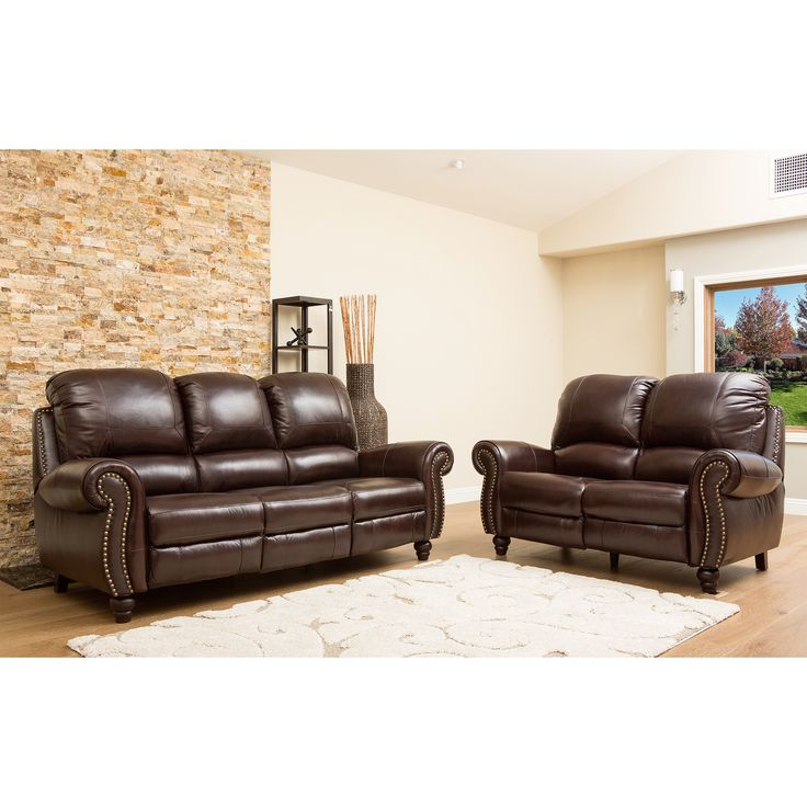 Brilliant Brown Leather Couch With Studs 23 Best New Sofa Images On Pinterest Living Room Sofa Recliner