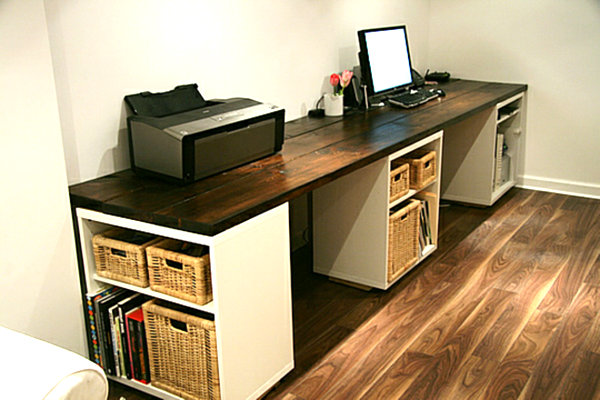 Brilliant Build Your Own Workstation Desk Your Own Diy Office Desk Out Of Your Own Hands Boshdesigns