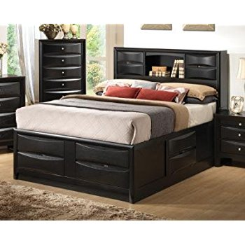 Brilliant Cal King Bed Frame With Storage Bed California King Bed Frame With Drawers Home Design Ideas