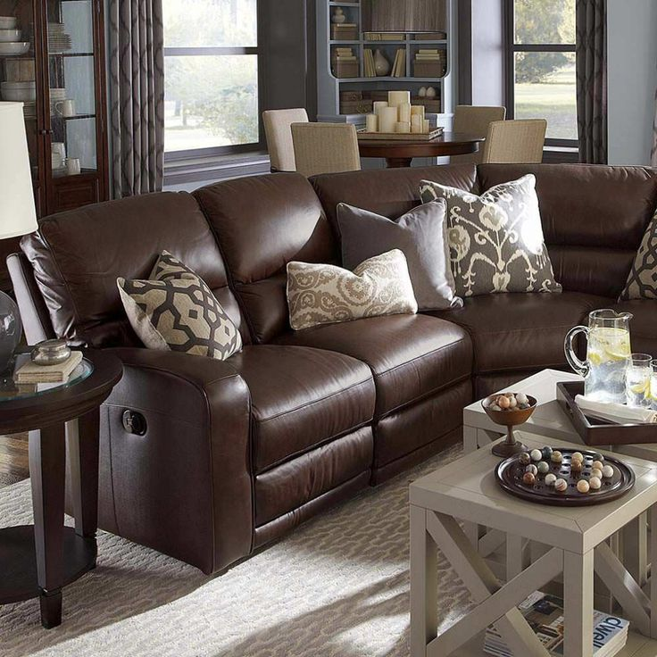 Brilliant Chocolate Brown Leather Sofa Best 25 Leather Couch Decorating Ideas On Pinterest Brown