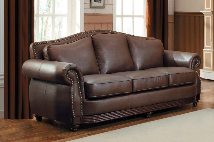 Brilliant Chocolate Brown Leather Sofa Homelegance Midwood Bonded Leather Sofa Collection Dark Brown