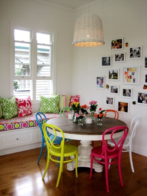 Brilliant Colorful Dining Chairs Custom Colorful Dining Chairs With Round Table Multicolored Chairs