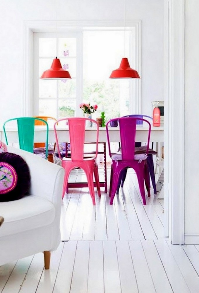 Brilliant Colorful Kitchen Chairs Chairs Amusing Colored Dining Chairs Colored Dining Chairs Blue
